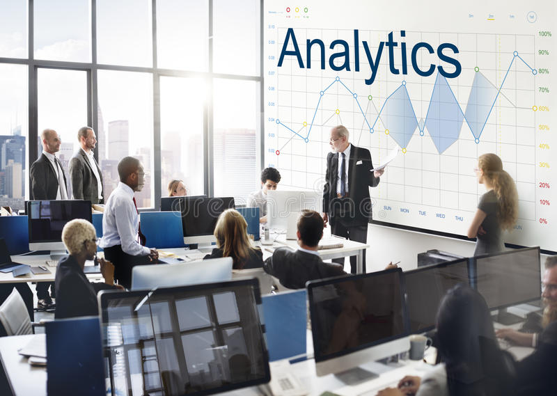 Report Analysis Progress Chart Concept royalty free stock photography
