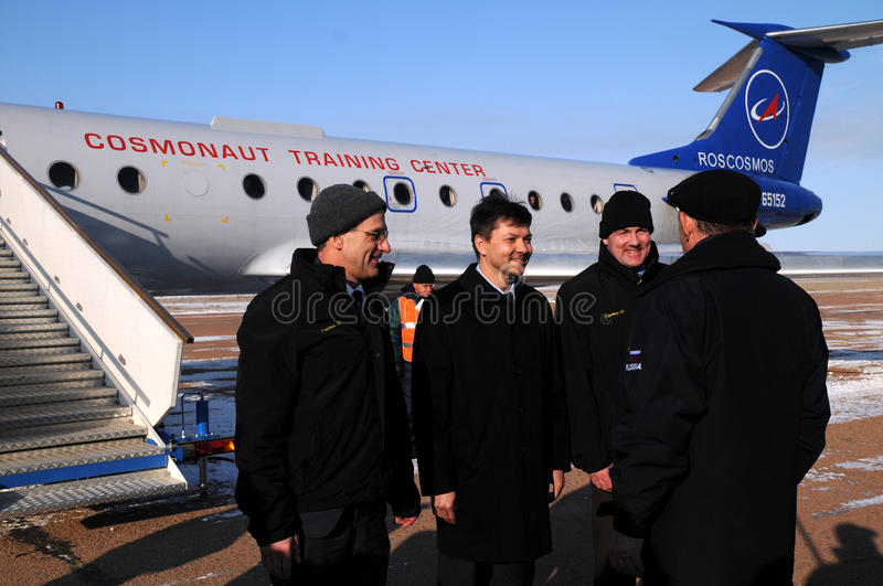 Download Report Upon Arrival In Baikonur Editorial Stock Image - Image: 22439119