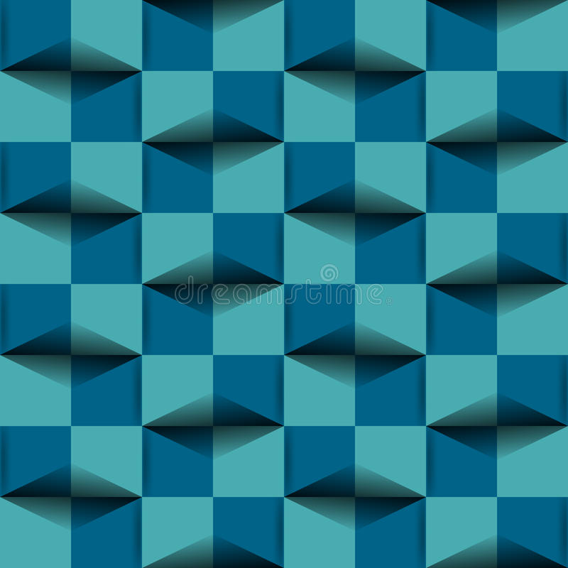 Report Cover. Geometric report cover in teal and royal blue 3d affect royalty free illustration