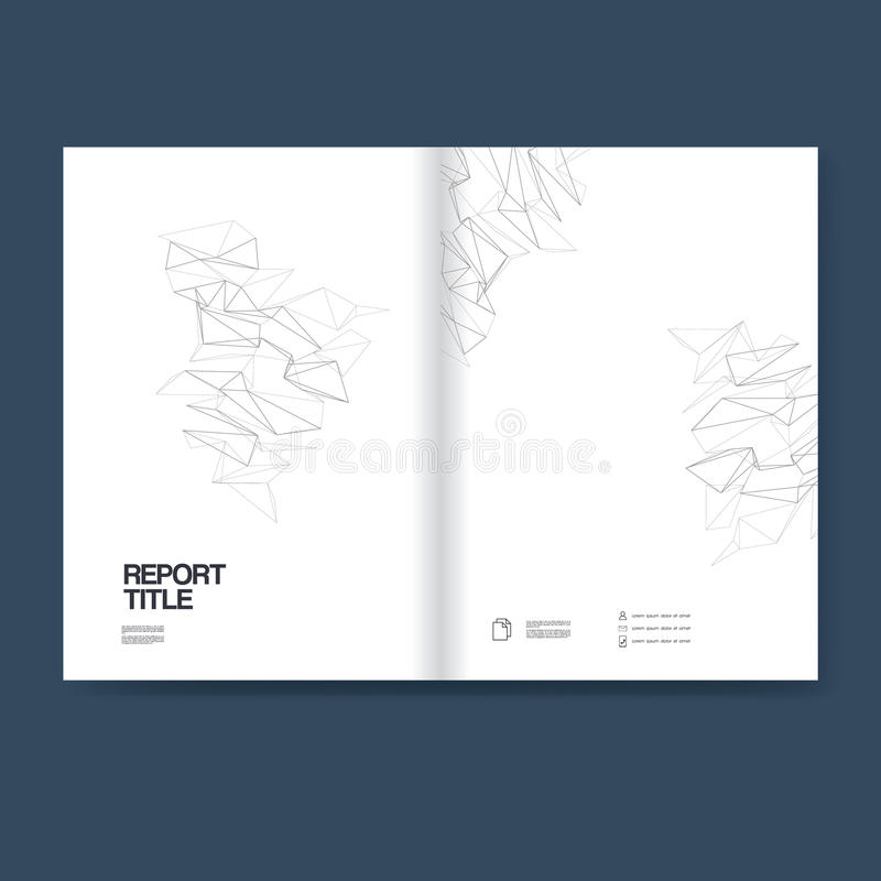 Report cover template for business annual reporting. Vector polygonal line art background with geometric shapes and. Space for text. Eps10 vector illustration royalty free illustration