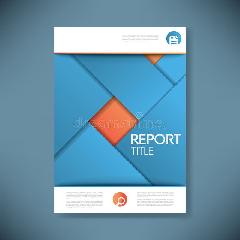 report cover template for business presentation or stock, Presentation templates