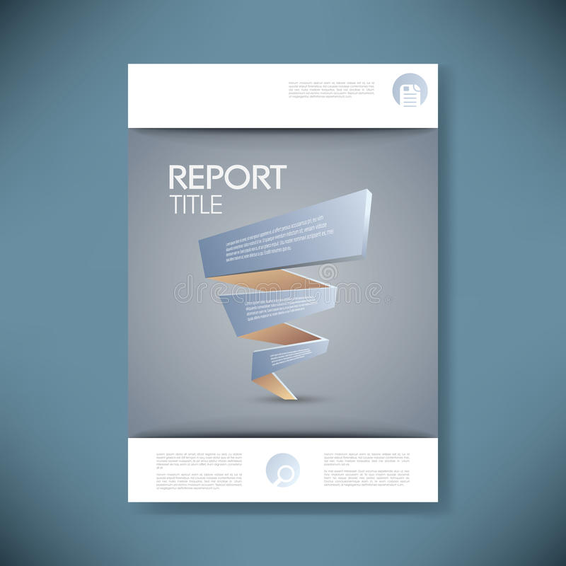 Report cover template for business presentation or. Brochure. 3d low poly vector background. Eps10 vector illustration royalty free illustration