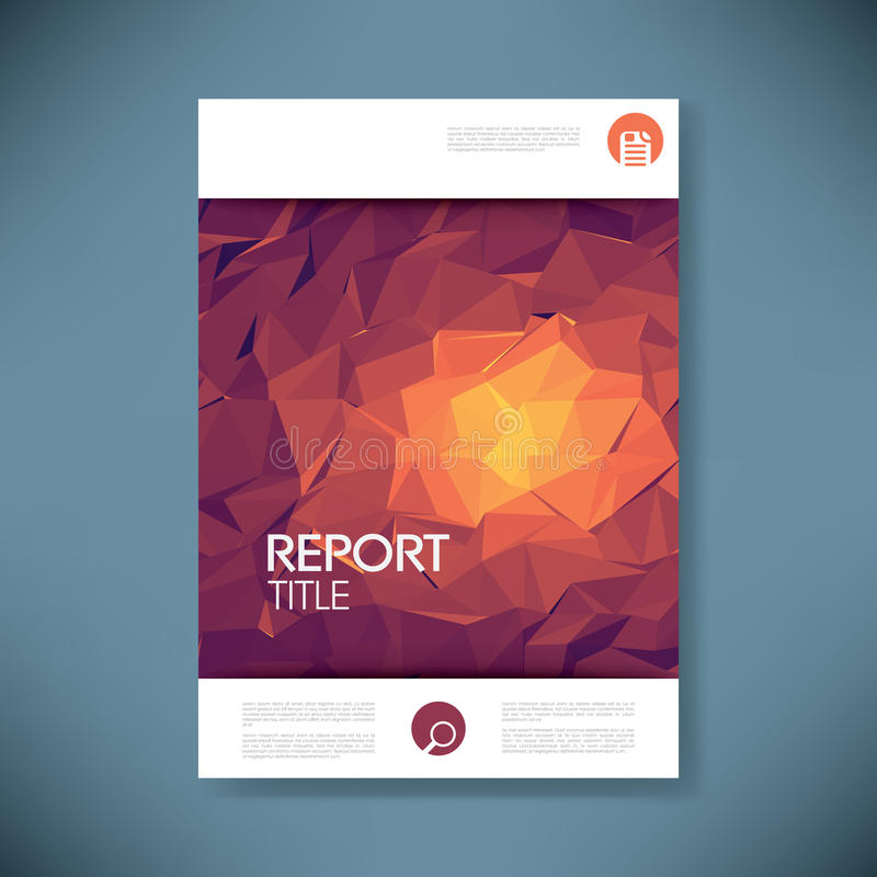 Report cover template with 3d low poly vector. Background. Business brochure or presentation title page. Eps10 vector illustration vector illustration