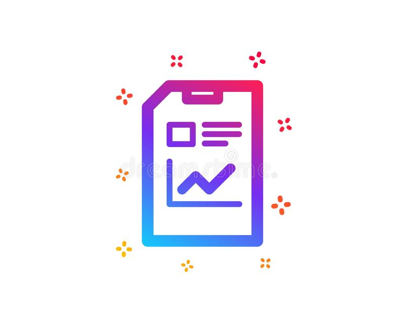 Report Document icon. File sign. Vector. Report Document icon. Analysis and Statistics File sign. Paper page concept symbol. Dynamic shapes. Gradient design vector illustration