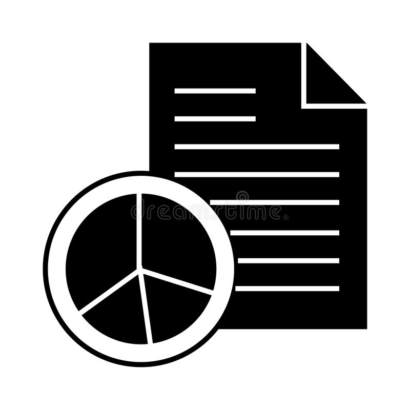 Report glyphs icon. Report Vector glyphs Icon. Elements for mobile concept and web apps. Thin line icons for website design and development, app development royalty free illustration