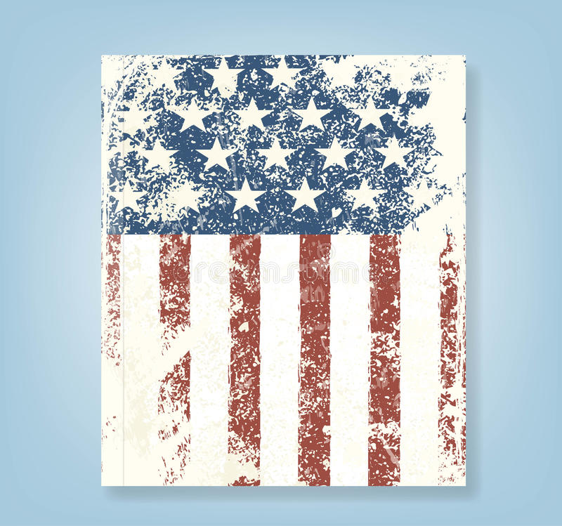 Report Grunge American flag background. Vector illustration, EPS 10 royalty free illustration