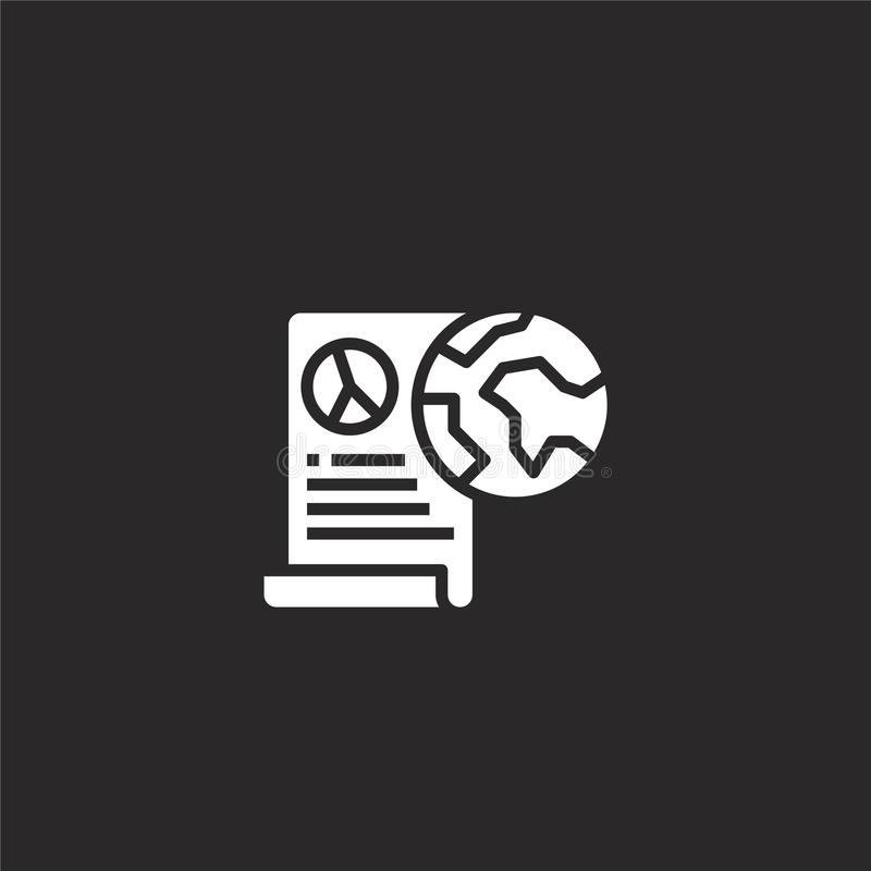 Report icon. Filled report icon for website design and mobile, app development. report icon from filled seo collection isolated on. Black background vector illustration