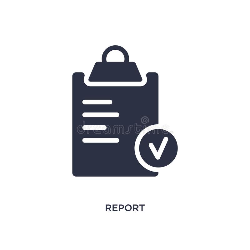 report icon on white background. Simple element illustration from strategy concept stock illustration