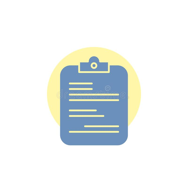 Report, medical, paper, checklist, document Glyph Icon. Vector EPS10 Abstract Template background royalty free illustration