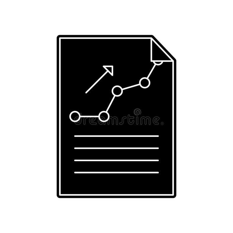 Report on paper icon. Element of Banking for mobile concept and web apps icon. Glyph, flat icon for website design and development. App development on white stock illustration