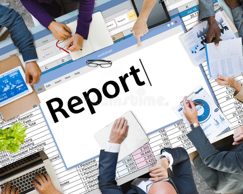 Report Reporting Resulting Information Article Concept royalty free stock image