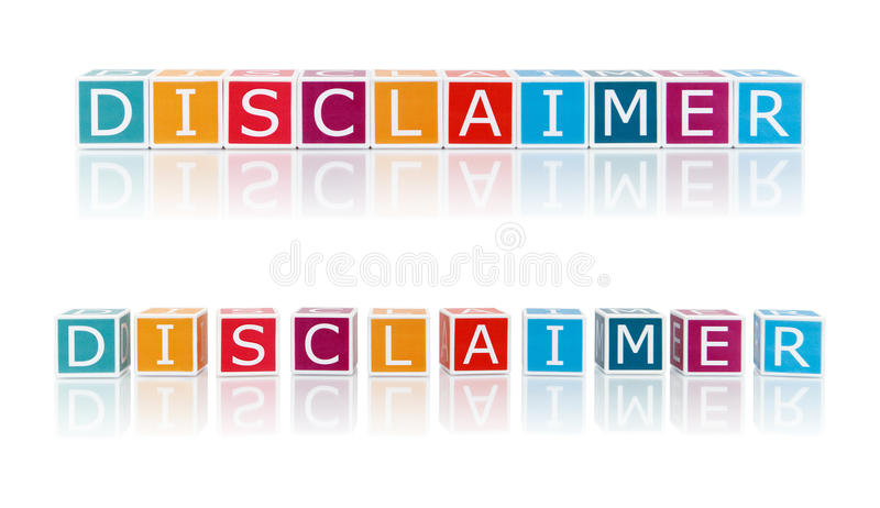 Report Topics With Color Blocks. Disclaimer. royalty free stock photo