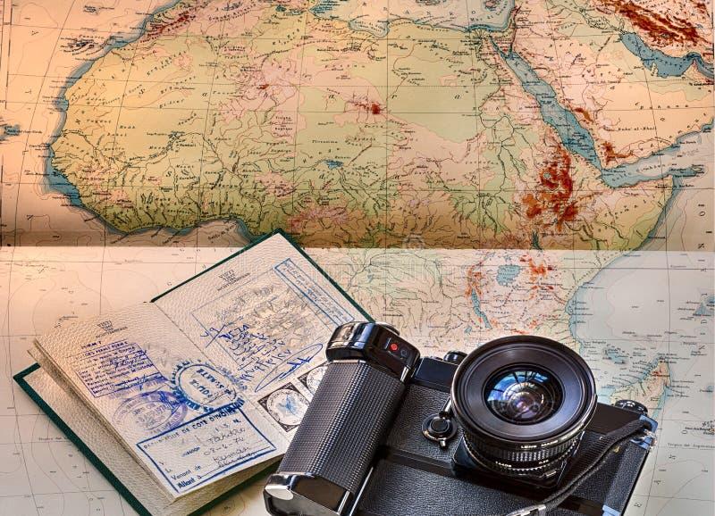 Reportaż i przygoda z safari w Afryka ilustracja wektor