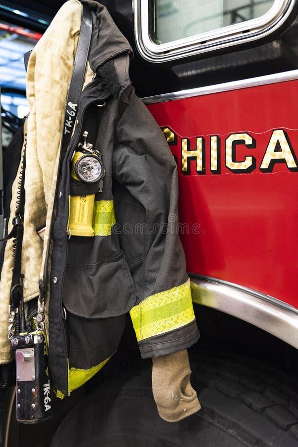 Reportagem do fogo de Chicago imagem de stock