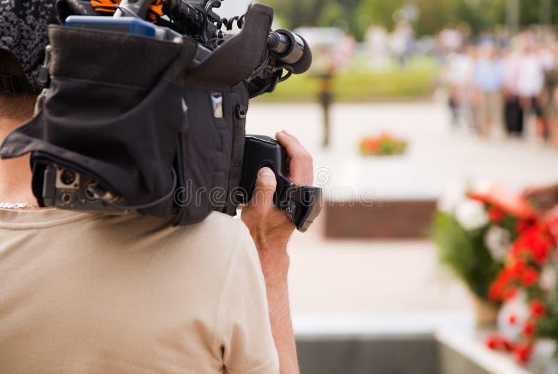 Reportaje de la TV fotos de archivo libres de regalías