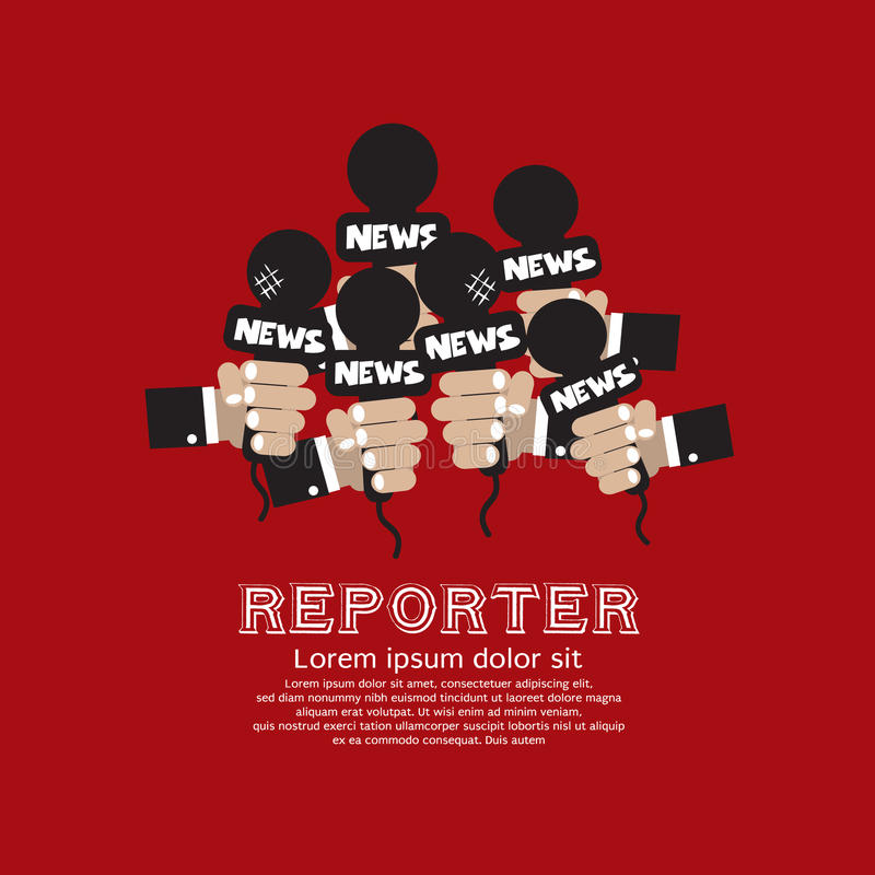 Reporter Concept. royalty illustrazione gratis