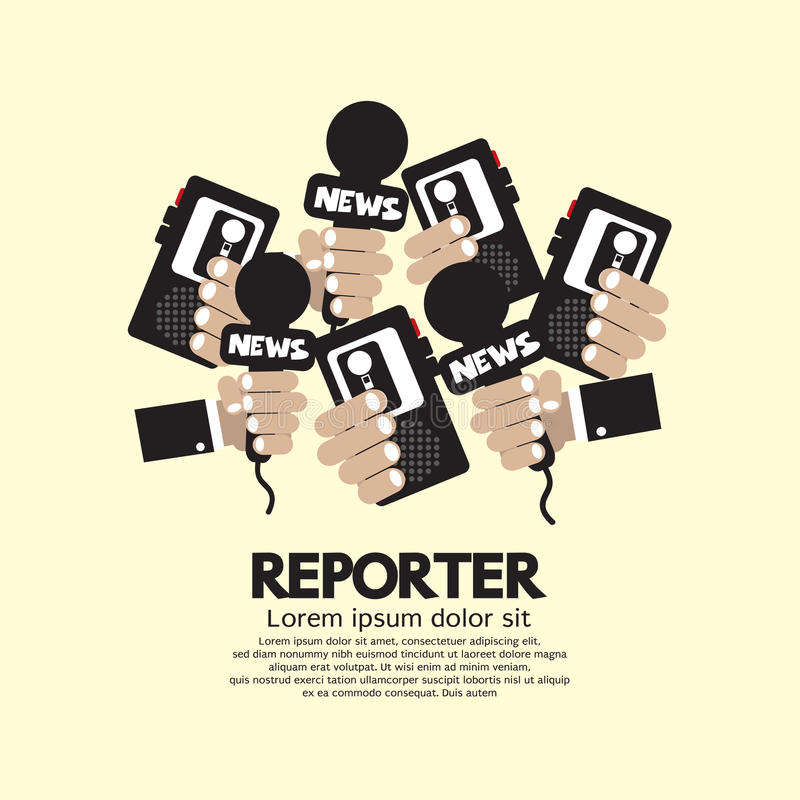 Reporter Concept. Graphic Vector Illustration stock illustration