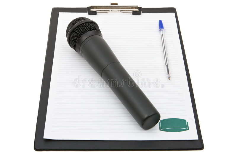 Reporter set royalty free stock photography