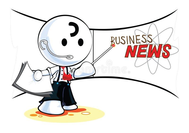 Reporter wiadomości gospodarcze royalty ilustracja