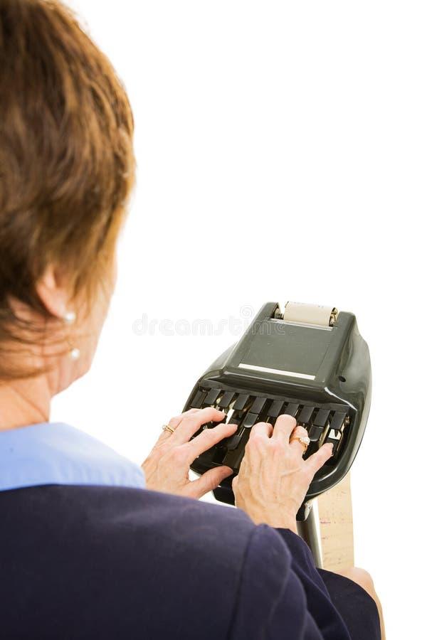 Reportero de corte - sobre hombro fotografía de archivo