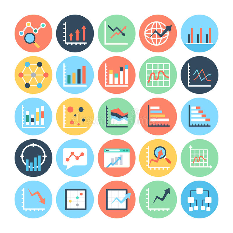 Reports and Analytics Colored Vector Icons 6. Get for your next business and financial reports designs. You can use this Report and Analytics Vector Icons as you vector illustration