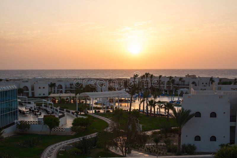 Repos à l'hôtel, paysage égyptien photo libre de droits