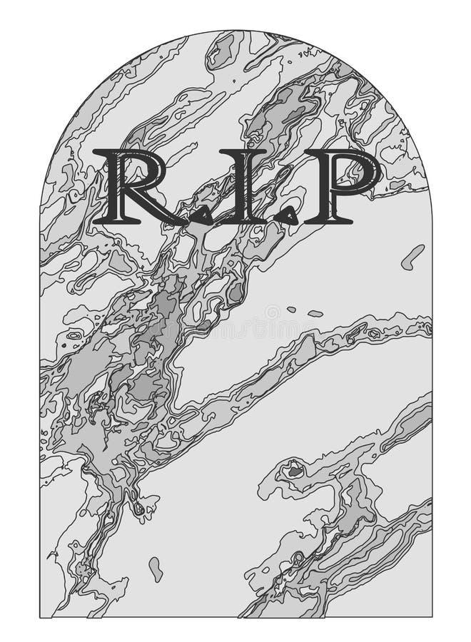Repos dans la pierre tombale de paix illustration stock