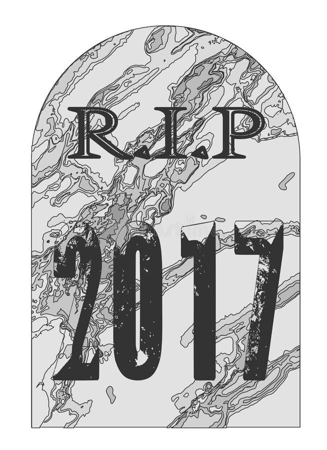 Repos dans la pierre tombale 2017 de paix illustration de vecteur