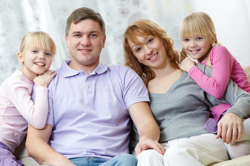 Repos de famille photos stock
