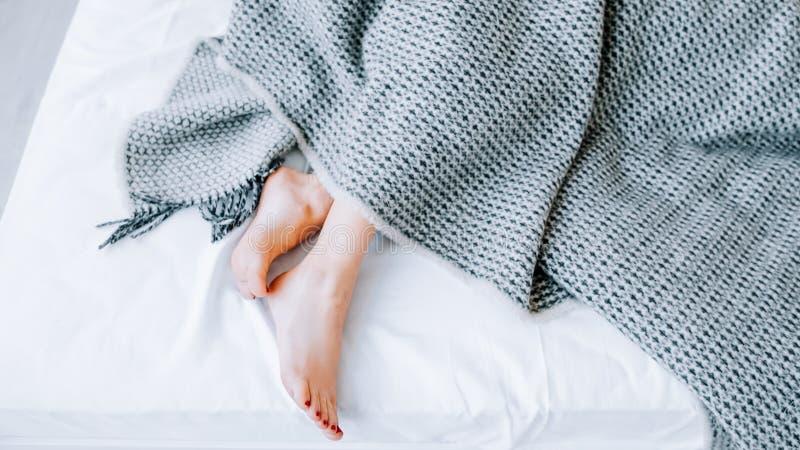 Repos intérieur à la maison de confort de décor de linge de lit de textile image stock