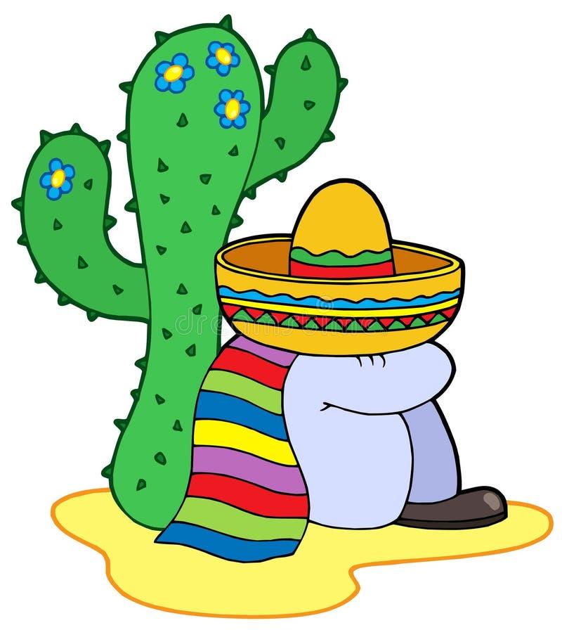 repos mexicain illustration de vecteur