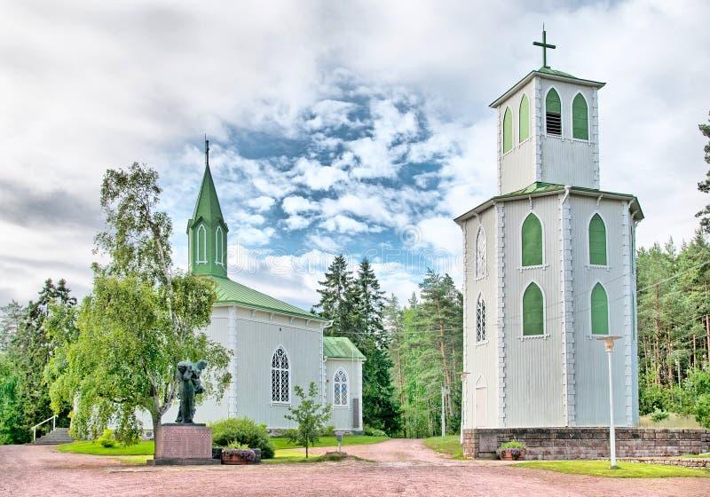 Reposaari finland Igreja de Lutheran foto de stock royalty free