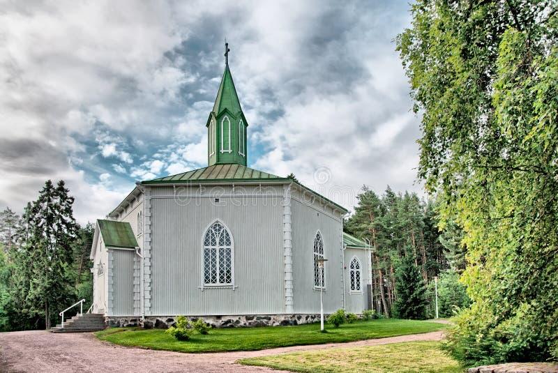 Reposaari finlandia Iglesia de Lutheran fotos de archivo libres de regalías