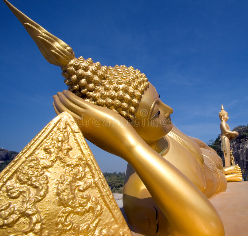 reposer de Bouddha thaï images stock