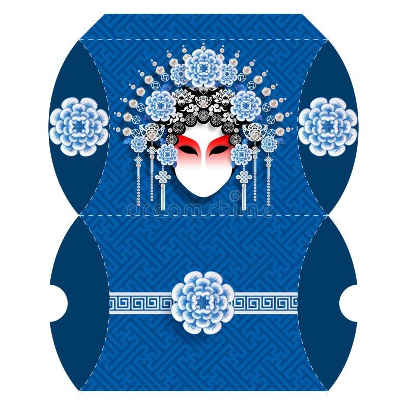 Reposez le boîte-cadeau pour le signe 2019 chinois heureux de zodiaque de nouvelle année illustration libre de droits
