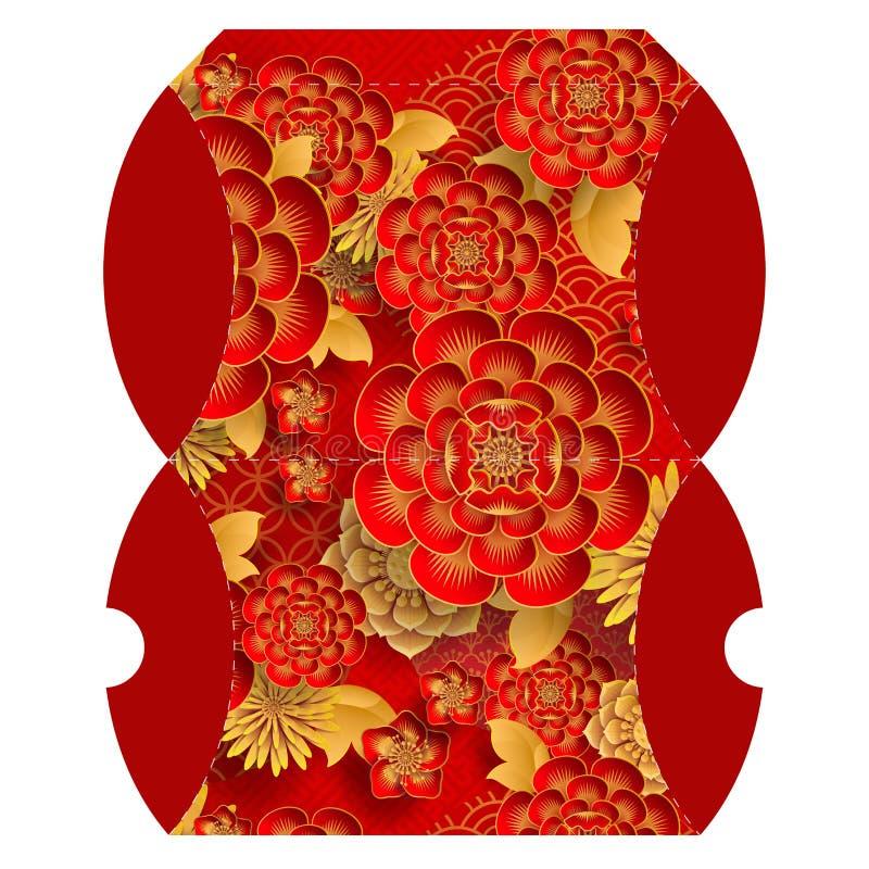 Reposez le boîte-cadeau pour le signe 2019 chinois heureux de zodiaque de nouvelle année illustration stock