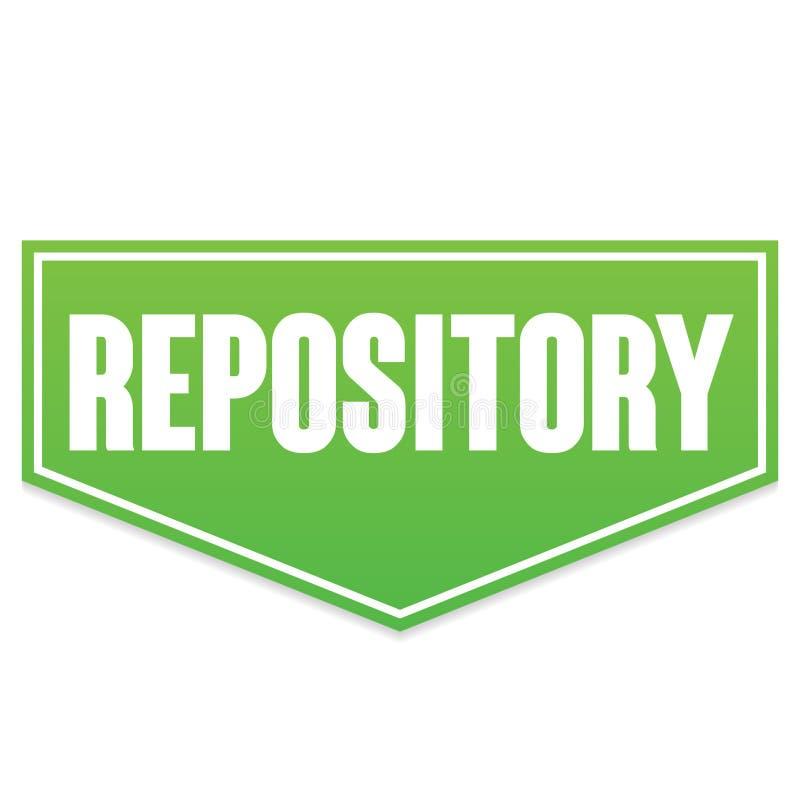 Repositório verde da bandeira do vetor fotografia de stock