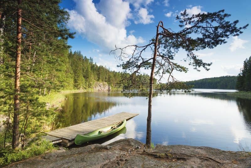 Repovesi国立公园,科沃拉,芬兰 免版税图库摄影