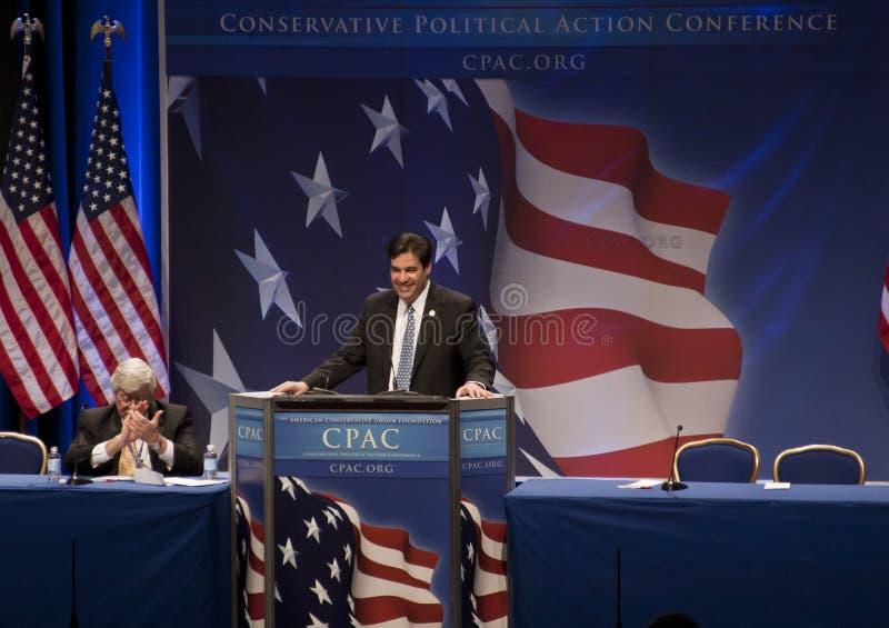 Repräsentant. Raul Labrador an CPAC 2011 lizenzfreies stockbild