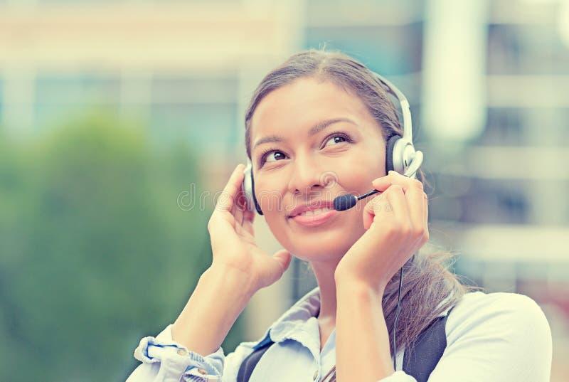 Représentant de service client, agent de centre d'appels photos stock