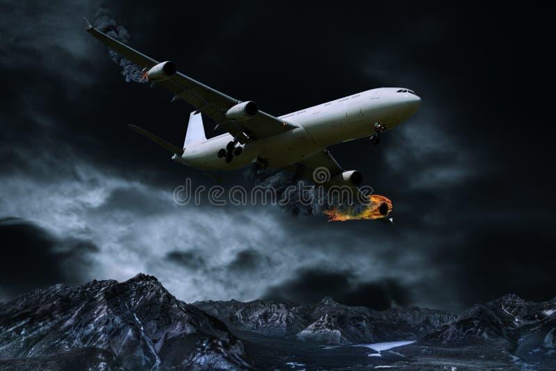 Download Représentation Cinématographique D'avion Avec Le Feu De Moteur Photo stock - Image du désastre, détruit: 87701802