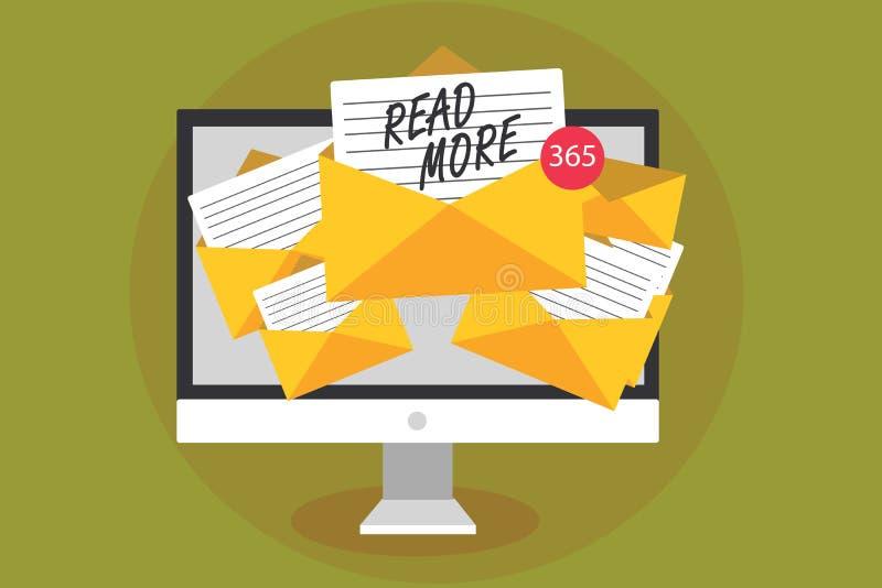 Représentation conceptuelle d'écriture de main lue la suite Le texte de photo d'affaires fournissent plus d'heure ou de lecture c illustration libre de droits