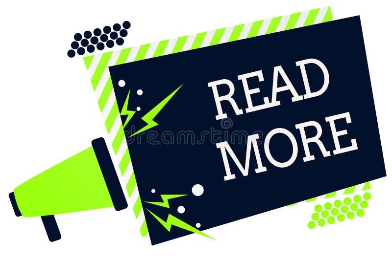 Représentation conceptuelle d'écriture de main lue la suite La présentation de photo d'affaires fournissent plus d'heure ou de le illustration libre de droits