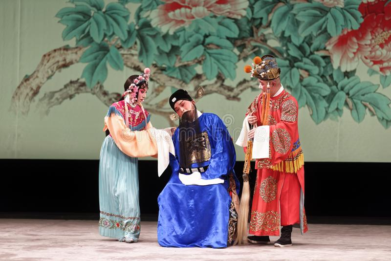 Représentation d'opéra de Pékin image stock