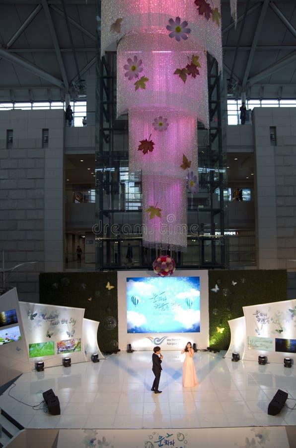 Représentation dans l'aéroport d'Incheon photographie stock libre de droits
