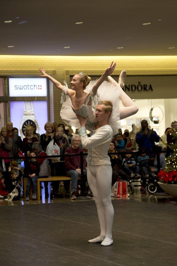 Représentation de ballet les vacances du nord 2017 TX de Noël de parc image libre de droits