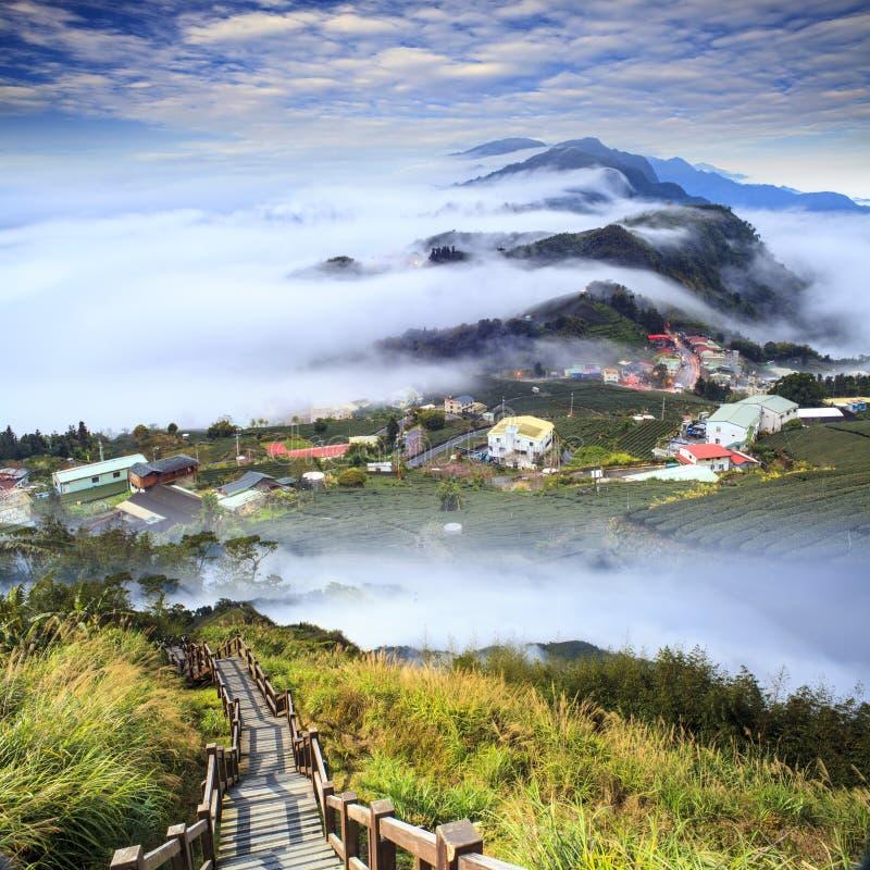 Représentation de beau paysage avec la couleur gentille du soleil de montagne photographie stock libre de droits