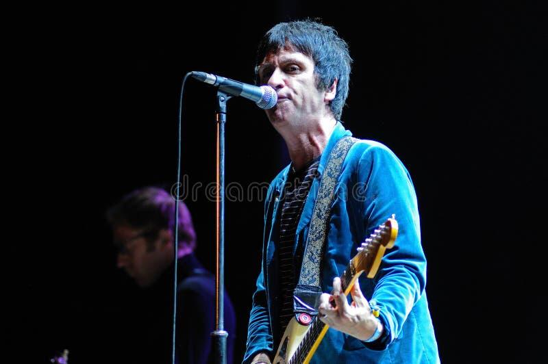 Représentation de concert de bande de Johnny Marr au festival 2013 de BOBARD (Festival Internacional de Benicassim) image libre de droits