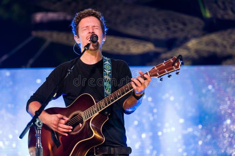 Représentation de concert de Jason Mraz photo libre de droits