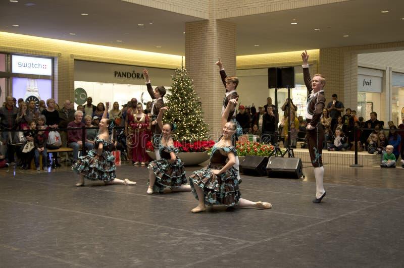 Représentation de Dallas Ballet Company les vacances du nord de parc images stock